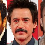 Marvel: è gara di baffi tra Robert Downey Jr.,Mark Ruffalo e Chris Evans su Twitter