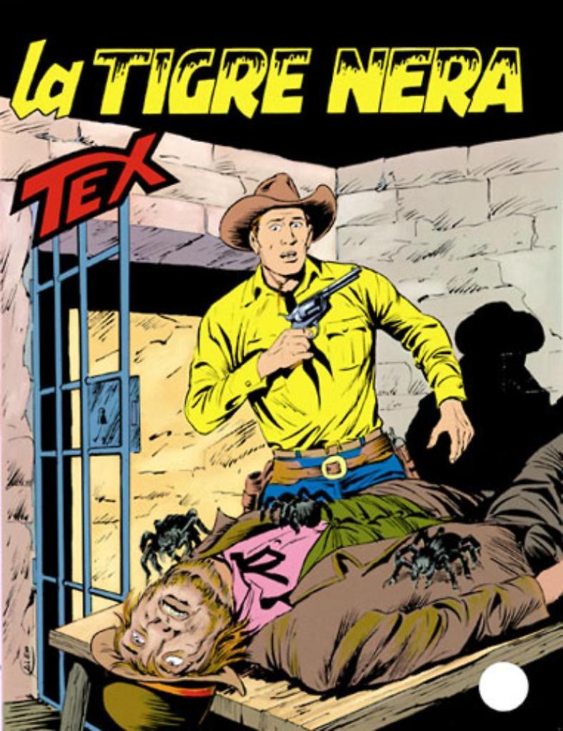 Tex 382: La Tigre Nera, copertina di Aurelio Galleppini