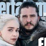 Game of Thrones: Jon Snow e Daenerys nella prima foto dell'ottava stagione in copertina su EW!