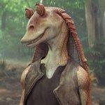 Star Wars: Simon Pegg si è pentito per aver preso in giro Jar Jar Binks