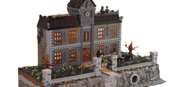 Arkham Asylum: l'iconico manicomio di Gotham City costruito con 18.000 pezzi LEGO