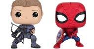 Captain America: Civil War, ecco le figure Funko Pop! di Occhio di Falco e Spider-Man