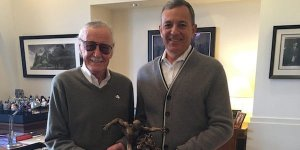 Stan Lee Bob Iger Marvel Disney