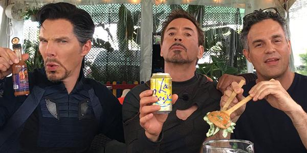 Avengers: Infinity War, ecco la foto degli eroi in pausa pranzo!