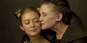 star wars Billie Lourd Carrie Fisher