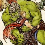 Thor: Ragnarok, il Dio del Tuono e Hulk alle prese col wrestling coreano in un nuovo poster