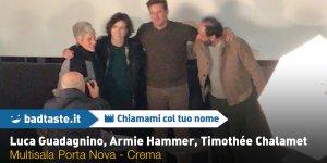 Chiamami col tuo Nome: Armie Hammer, Timothée Chalamet e Luga Guadagnino incontrano il pubblico a Crema!