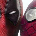 Deadpool e Spider-Man come in una commedia romantica in un fan poster mashup