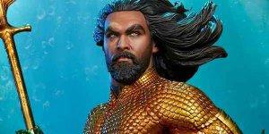 Aquaman: la statua di Arthur Curry della Sideshow Collectibles mostrata in un video
