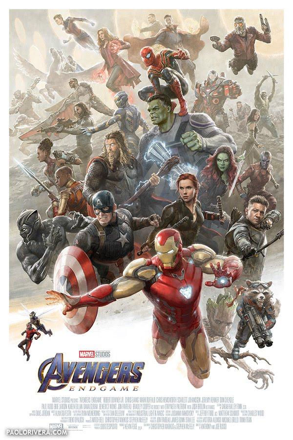 Avengers: Endgame - Illustrazione di Paolo Rivera