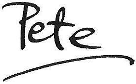 Pete Underhill's signature