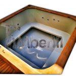 Badestamp i plast firkantet jacuzzi TimberIN 1