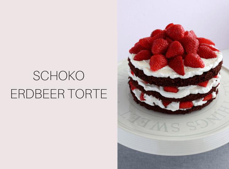 Minitorte mit Erdbeeren Rezept | bäckerina.de