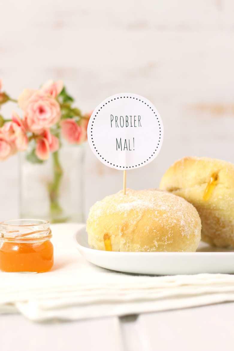 Ofenberliner mit Vanille und Aprikose