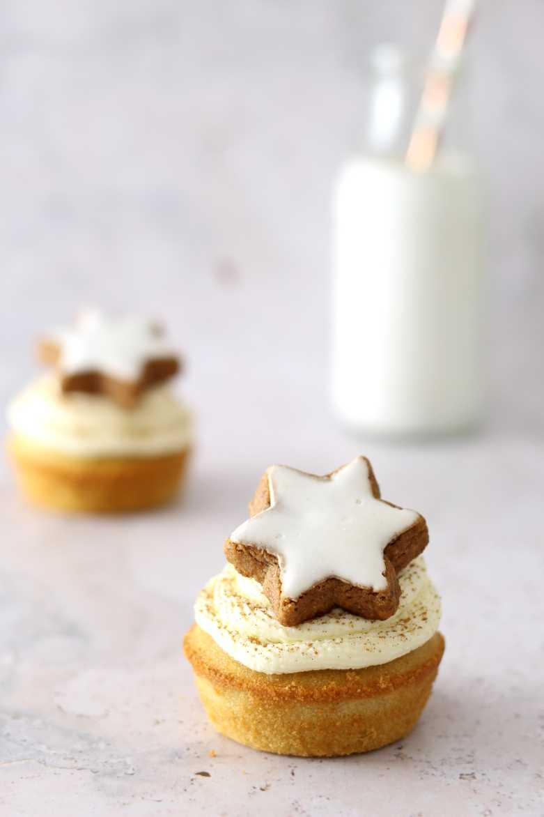 Zimtstern Cupcakes Rezept