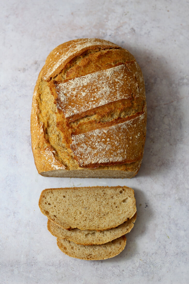 Dinkelbrot über Nacht | bäckerina.de