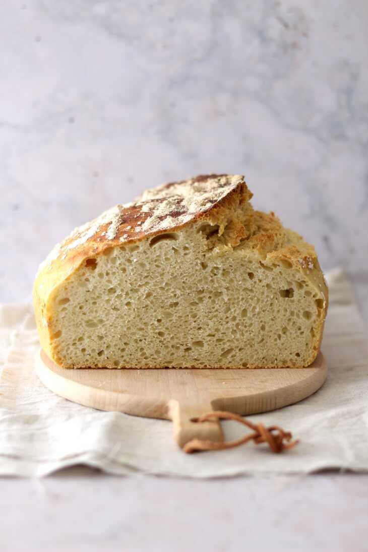 No Knead Brot Rezept aus dem Topf | bäckerina.de