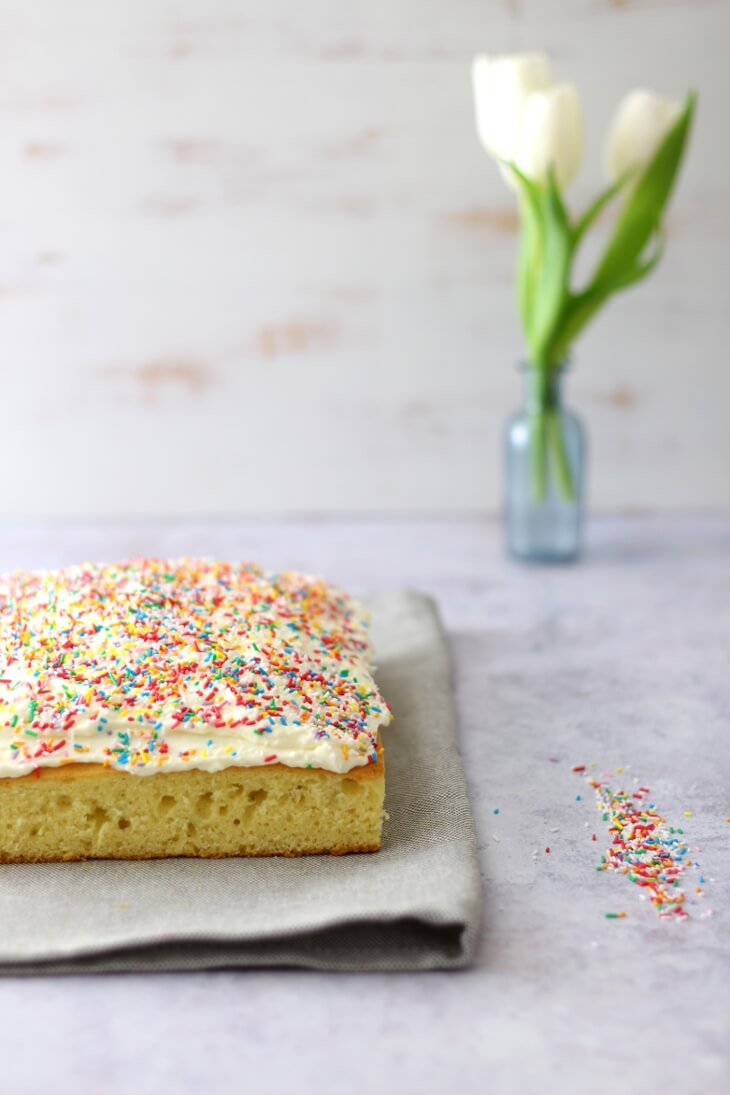 Lustiger Konfetti Kuchen vom Blech | bäckerina.de