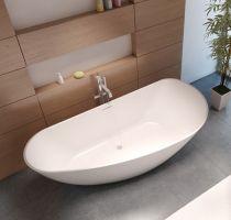 Riho Solid Surface Granada Freistehende Badewanne 170x80cm ...