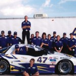 Bill Bentley's racing team and family at the Trans AM