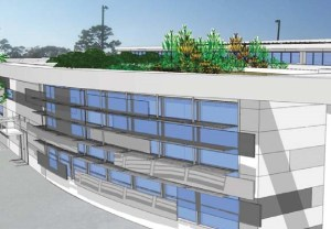 Rendering of green roof feature on GRU Eastside Operations Center
