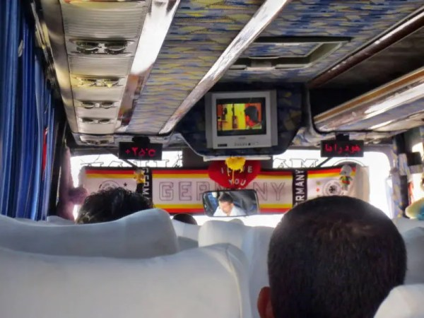 Überlandbus im Iran