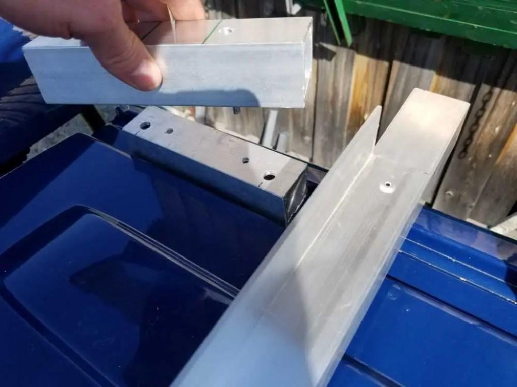 Bau der Dachhalterung für das Solarmodul und das Camper Dach.