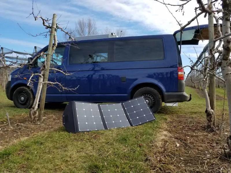 autarke stromversorgung im camper durch faltbares solarmodul b ren squad. Black Bedroom Furniture Sets. Home Design Ideas