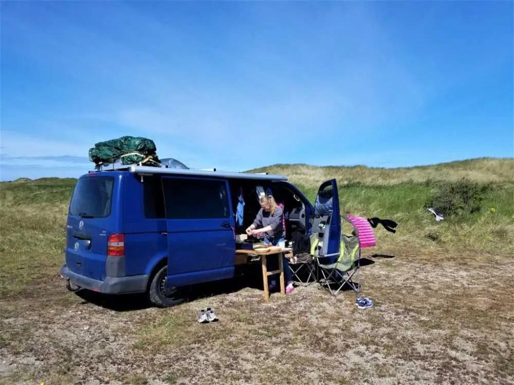 Frei stehen in den Jammerbugten an der Westküste von Dänemark