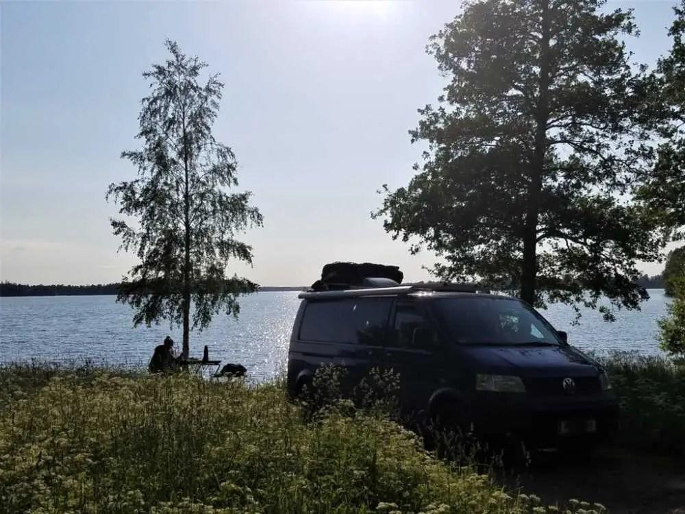 Mit dem Camper Bus durch Süd-Schweden