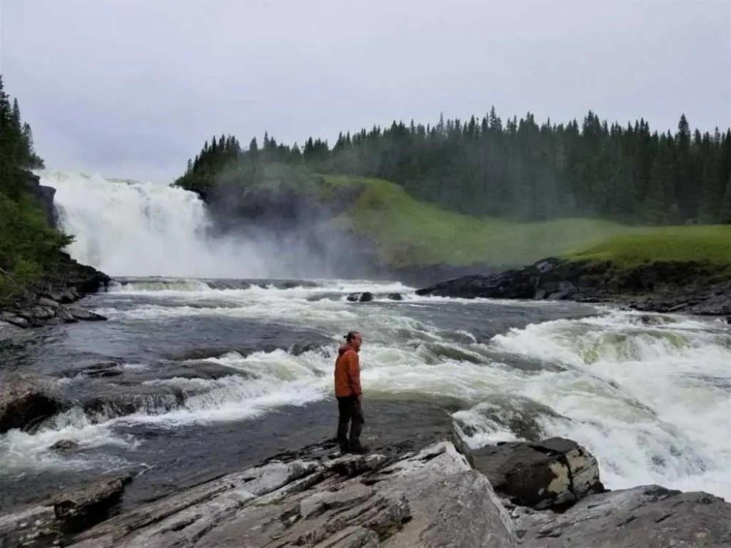 Tännforsen in Schweden. Wasserfall