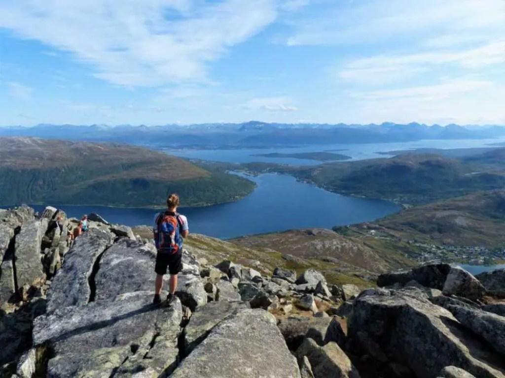 Insel Kvaløy bei Tromsø in Norwegen.