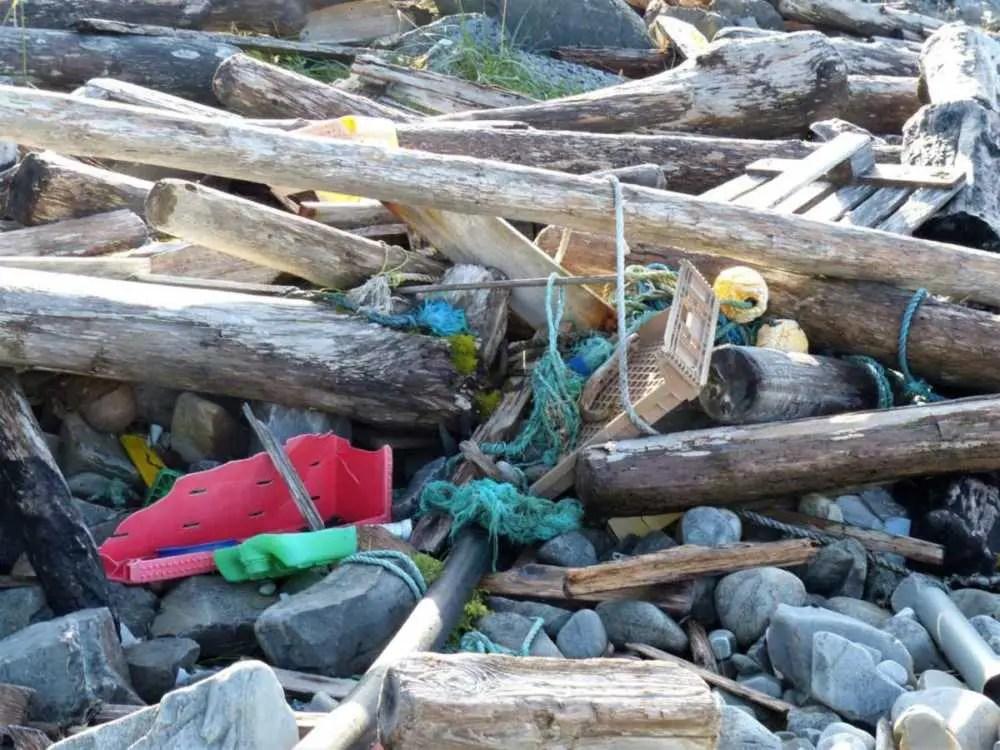 Müll an der Küste Norwegens