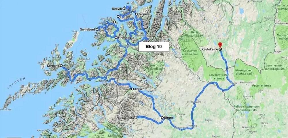 Unsere Tour zur Insel Senja, Tromso und Lappland.