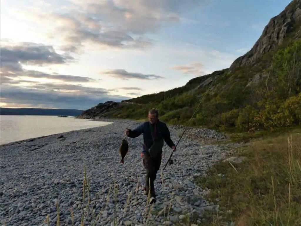 Fang eines Heilbutt in der Finnmark