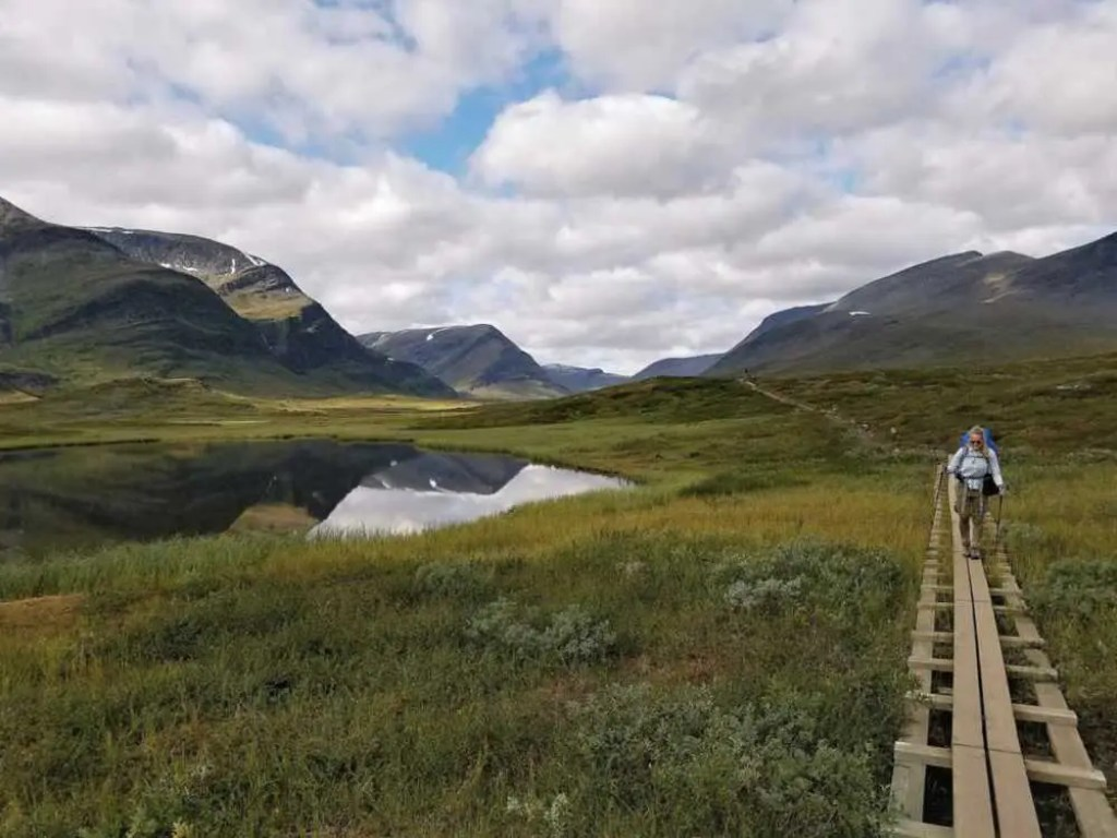 Wandern und Trekking auf dem Dag Hammarskjöldsleden in Lappland. Von Abisko nach Nikkaluokta.