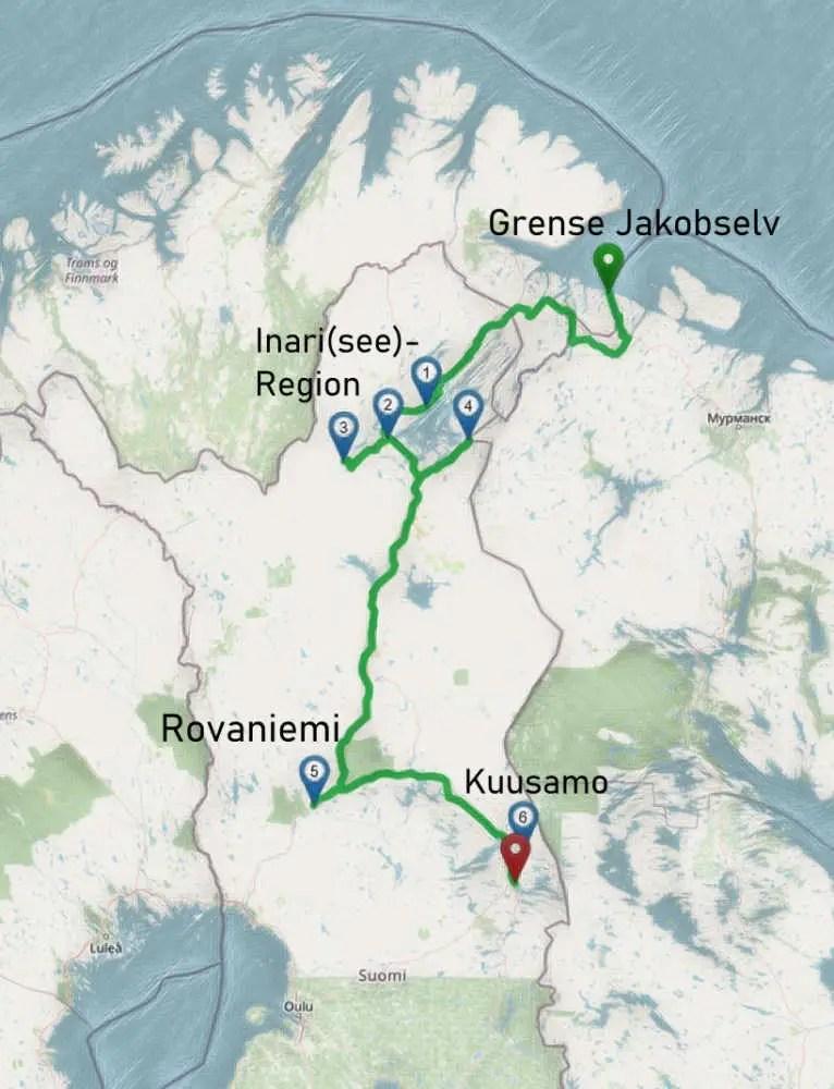 Unsere Tour im Herbst durch Finnisch Lappland mit dem Camper und Polarlichter.