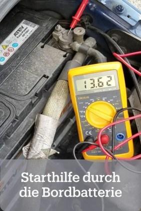 Autarke Starthilfe im Camper durch die Bordbatterie