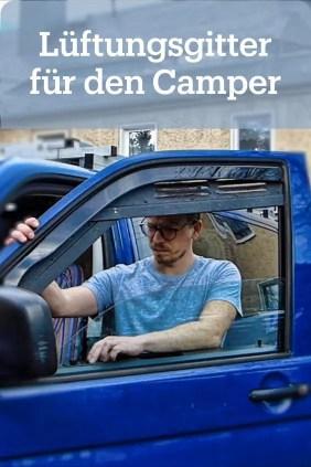 Lüftungsgitter gegen Feuchtigkeit im Camper Bus