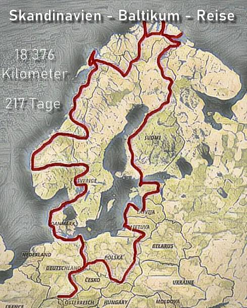 Skandinavien Baltikum Reise mit einem selbst ausgebauten Camper.