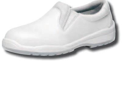 CARMEN IND BLANCO 34-48 EU PIEL / Flor Vacuna. SUELA / PU / PU. PUNTERA / Aluminio 200 J. Disponible: Plantilla anti perforación / Textil 1.100 N (S3+CI+SRC).