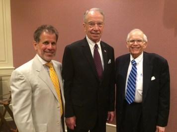 Left: Joel Androphy, co-host Middle: Sen. Grassley Right: James Dannenbaum, co-host