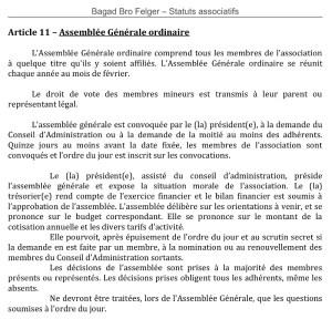 Article11 - Assemblée Générale ordianaire