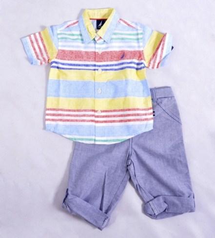 dc2db02645 Coisa mais linda este conjuntinho de bermuda saruel em sarja e camisa de  manga curta!