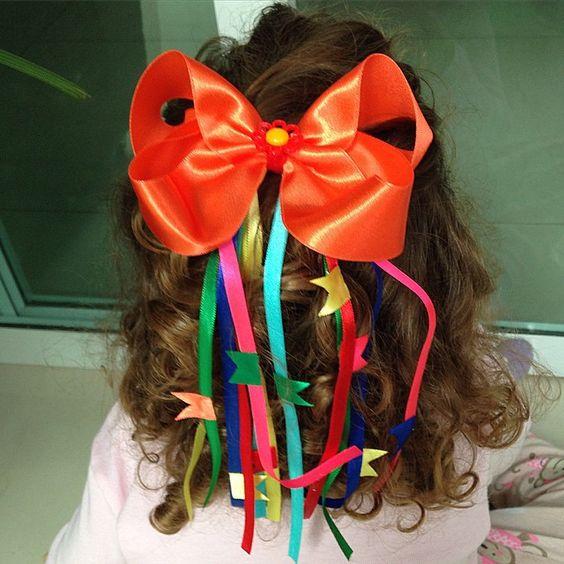 penteado de festa junina