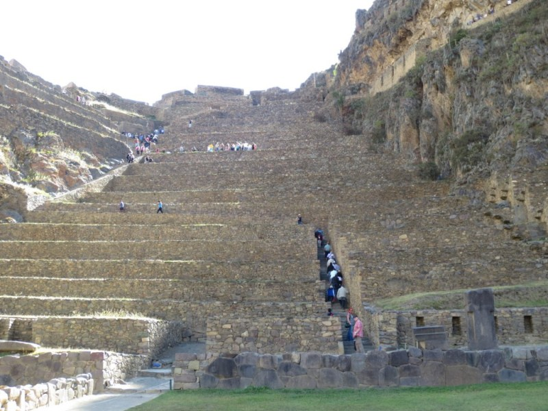 As ruínas de Ollantaytambo