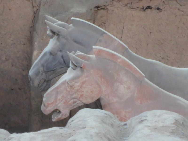 cavalos em terracota