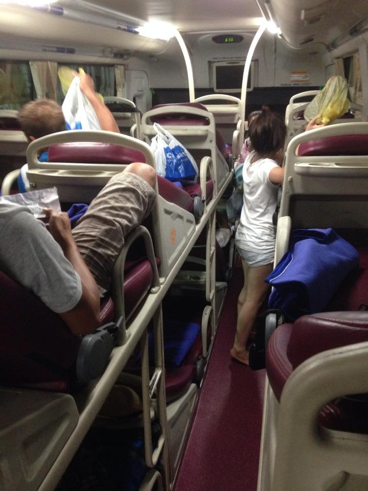 Sleeping bus do Vietnã