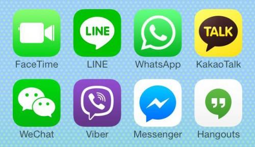 Apps de mensagem instantânea