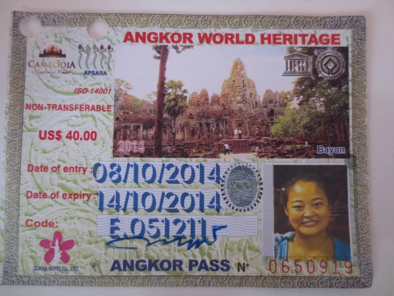 ingresso para Angkor Wat